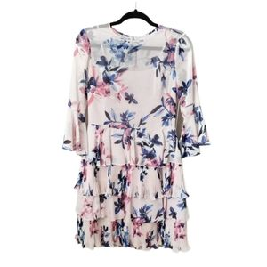 Eliza J Pink Floral Ruffle Dress 4